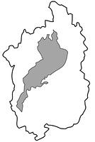 滋賀県の白地図