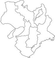 近畿地方の白地図
