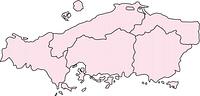 中国地方の地図