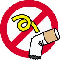 ポイ捨て禁止のイラスト素材の画像素材 Yourstock