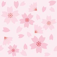 桜のシームレスパターン