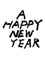 筆文字(A HAPPY NEW YEAR)