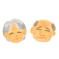 シニア夫婦の顔