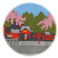 鹿児島/桜と霧島神社
