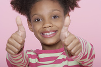 Girl Giving Thumbs Up