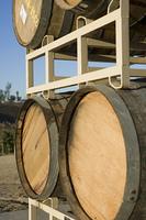 Wine barrels, outdoors