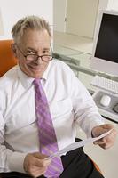 Businessman Working at Desk
