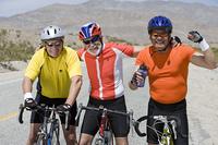 Senior men cycling