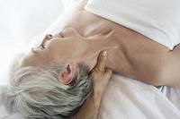 Senior woman having massage