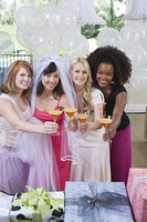 Friends Drinking Cocktails at Bridal Shower