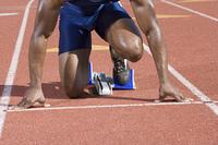 Athlete ready to run
