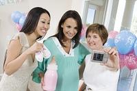 Women at a Baby Shower using Digital camera