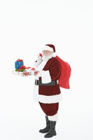 Santa Claus holding gifts