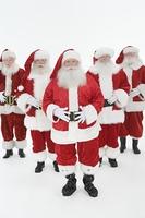 Group of men dressed as Santa Claus