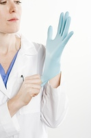 Doctor with rubber glove