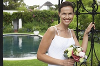 Happy Bride in Garden