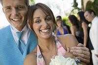 Happy Teenage Couple at School Social