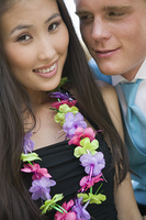 Couple Wearing Leis