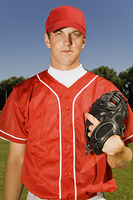 Baseball Pitcher With Glove