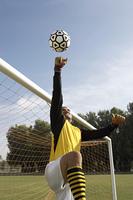 Soccer Goalie Making a Save