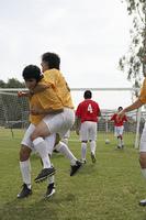 Soccer Players Celebrating a Goal