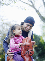 Father With Daughter at Playground