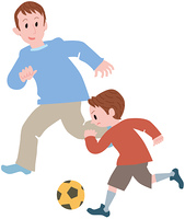 親子でサッカー