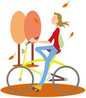 秋のサイクリング