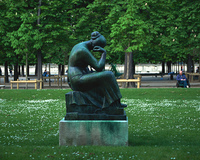 リュクサンブール公園の彫像