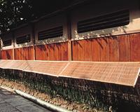 簾のある塀