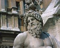 噴水の彫像