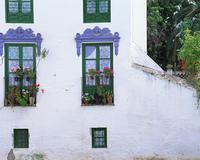 白壁の住宅