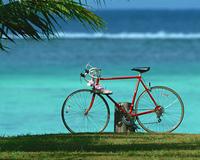海岸の自転車