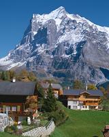 山脈を望むグリンデルワルト