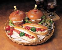 ホットドックとハンバーガー