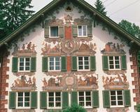 壁画のある住宅