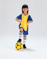 サッカーボールと女の子