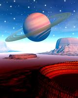 土星イメージ(CG)