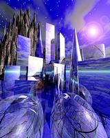 未来都市イメージ(CG)