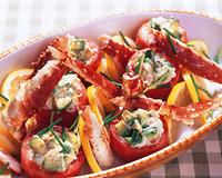 タラバガニとトマトのサラダ