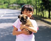 少女とイヌ