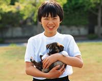 少年とイヌ