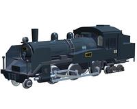 蒸気機関車(CG)