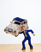 クラフト(ビジネスマンと乗用車)