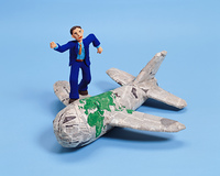 クラフト(ビジネスマンと旅客機)