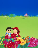 クラフト(花畑のカップル)