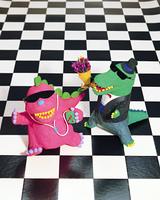 クラフト(恐竜とワニ)