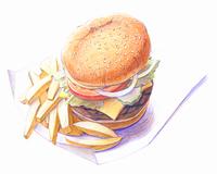 ハンバーガー(イラスト)