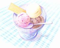 アイスクリーム(イラスト)
