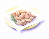 鶏の唐揚げ(イラスト)
